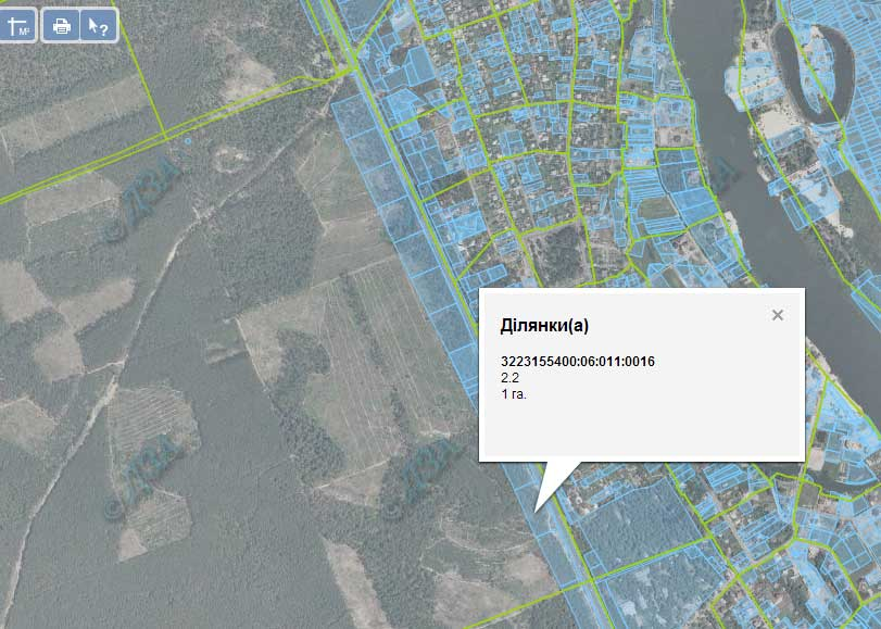 Фото кадастрової карти
