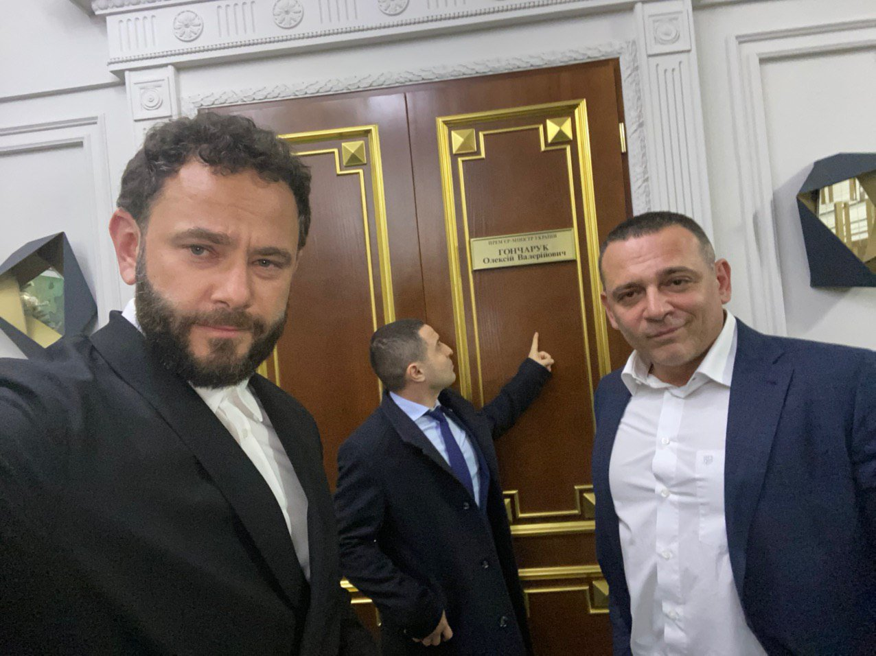 "Deputies of the ""Servant of the People"" faction Oleksandr Dubinsky (pictured left) and Maksym Buzhansky run their Telegram channels and regularly repost each other"