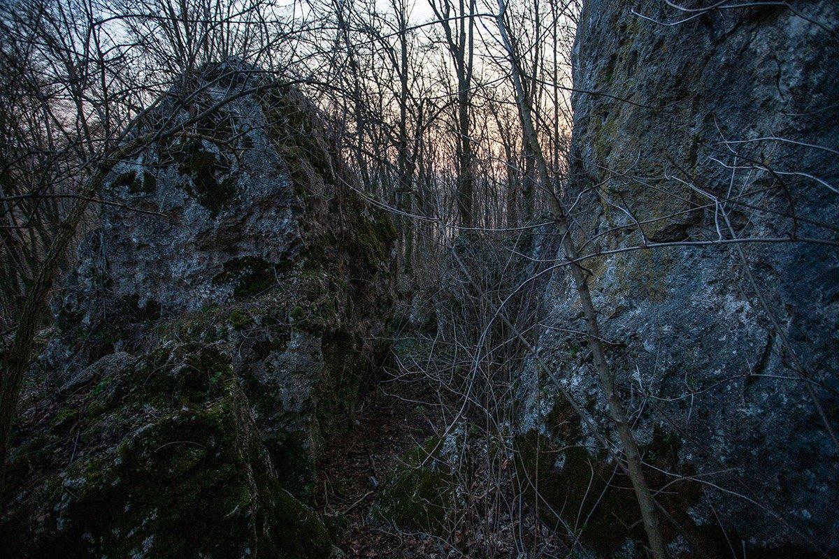 Скельна ущелина в Товтрах